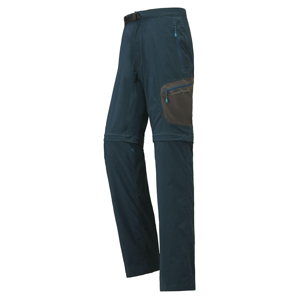 Montbell Japan Trekking Pants Men - Convertible Half - Outdoor Water Resistant Camping Hiking Light