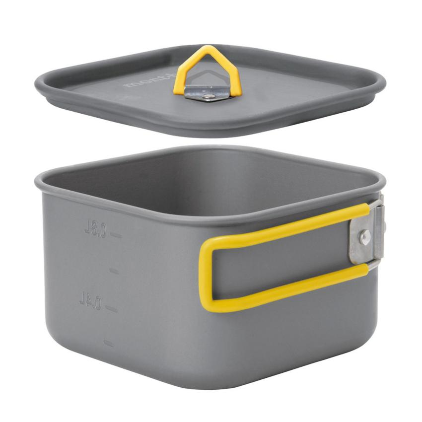 Montbell Japan Cooking Set - Alpine Cooker Square 12 - Outdoor Backpacking Camping Hiking 0.8 litres
