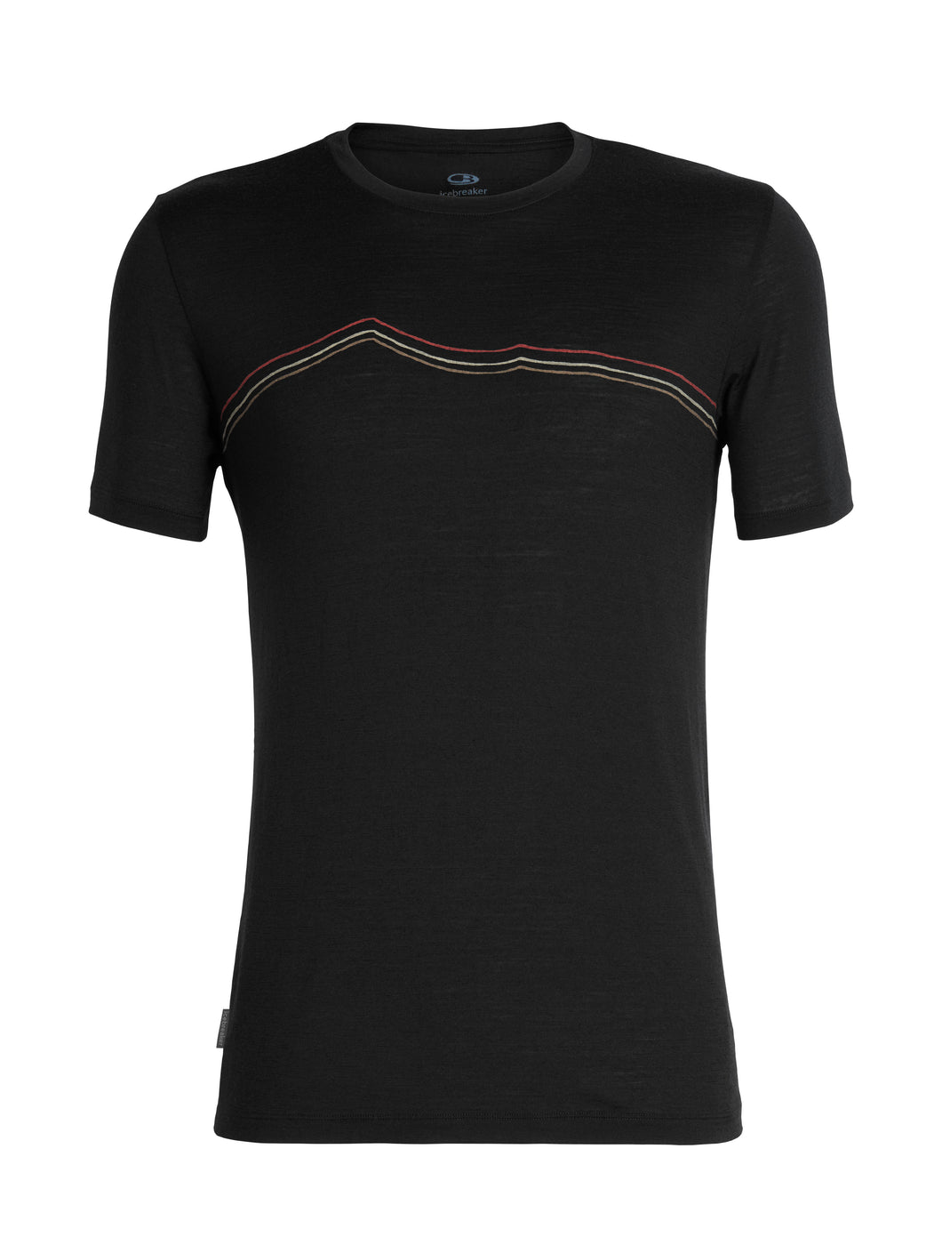 Icebreaker T-Shirt Men Merino Wool 150 Tech Lite - Rangitoto Triple - Outdoor Camping Trekking Hiking Everyday Short Sleeve