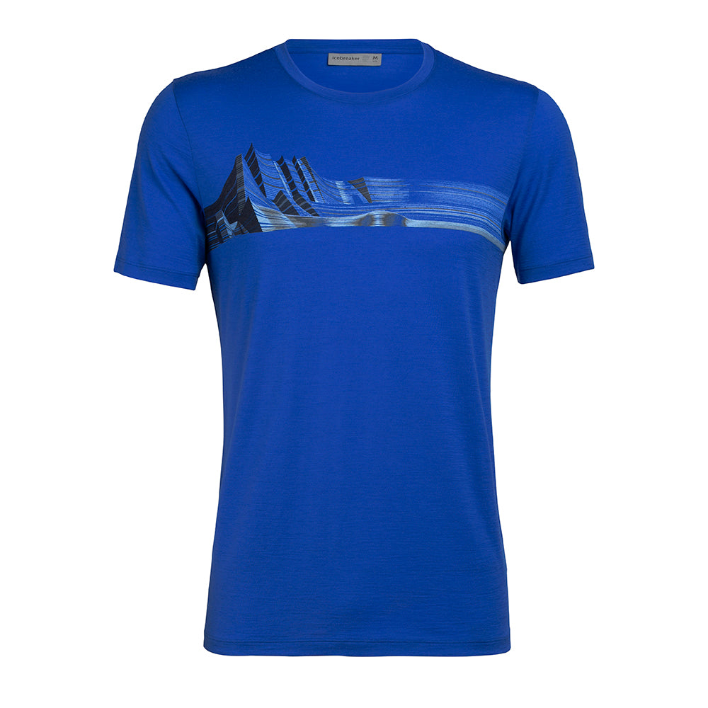 Icebreaker Men's Tech Lite Short Sleeve Crewe Mont Blanc Moir�