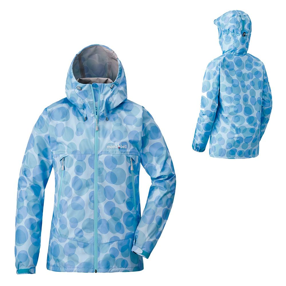Montbell Japan Waterproof GORETEX Rain Jacket Women Lightweight Hooded Windproof Rain Dancer Print