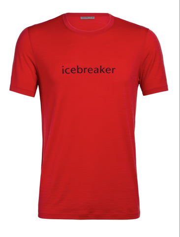 Icebreaker T-Shirt Men Merino Wool 150 Tech Lite WORDMARK - Outdoor Camping Trekking Hiking Everyday