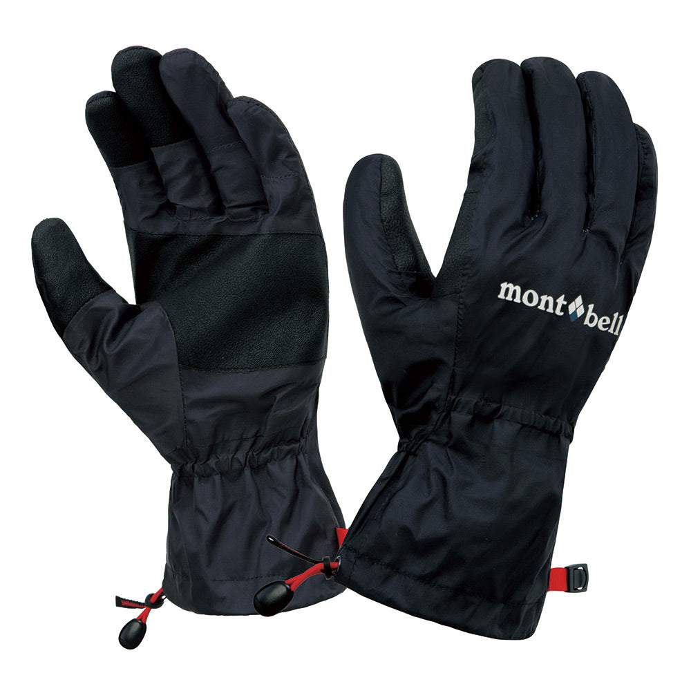 Montbell Japan Dry-Tec Rain Gloves Unisex - Waterproof Touchscreen Compatible