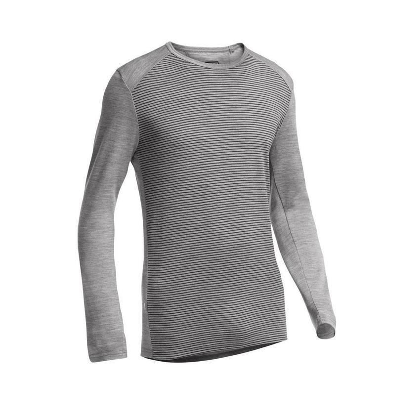 Icebreaker Merino 260 Mens Tech LS Crewe Stripe
