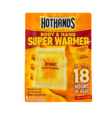 HotHands Body & Hand Super Warmers - Up to 18 hours - Winter Cold Weather Pack of 10