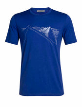 Load image into Gallery viewer, Icebreaker T-Shirt Men Merino Wool 150 Tech Lite - Peak In Reach - Outdoor Camping Trekking Hiking Everyday Short Sleeve