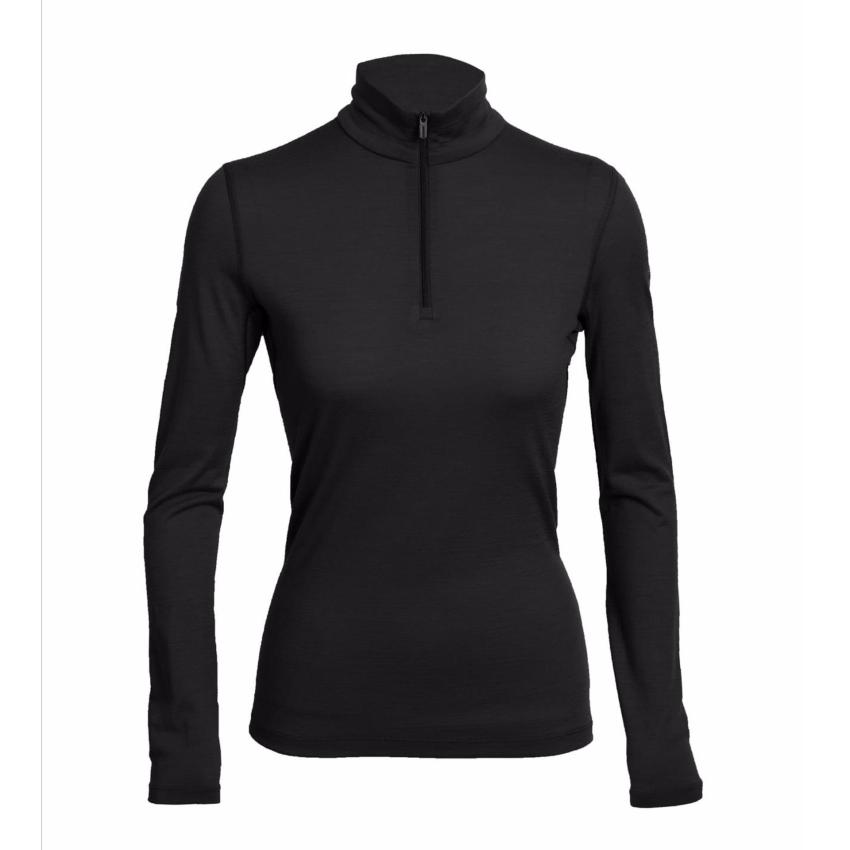 Icebreaker Base Layer Women's Merino Wool 200 Oasis - Long Sleeve Half Zip - Winter Outdoor Camping Trekking Hiking