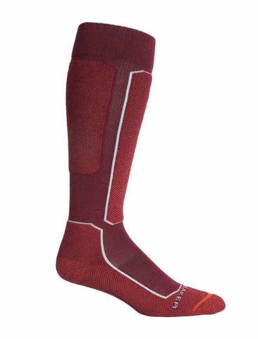 Icebreaker Merino Men Ski+ Light Cushion Over-The-Calf Socks Trekking Camping Outdoor