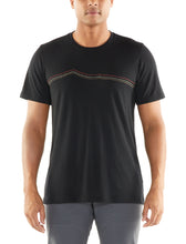 Load image into Gallery viewer, Icebreaker T-Shirt Men Merino Wool 150 Tech Lite - Rangitoto Triple - Outdoor Camping Trekking Hiking Everyday Short Sleeve