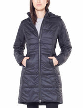 Load image into Gallery viewer, Icebreaker Winter Coat Women Merino Wool - MerinoLOFT StratusX 3-Quarter - Hoodie Jacket Outdoor Water Resistant