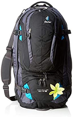 DEUTER TRAVELLER 60+10SL BLACK- TURQ