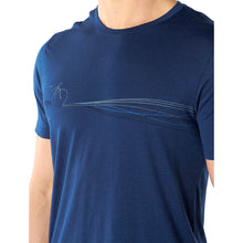 Load image into Gallery viewer, Icebreaker Men's Tech Lite Short Sleeve Crewe Cadence Paths