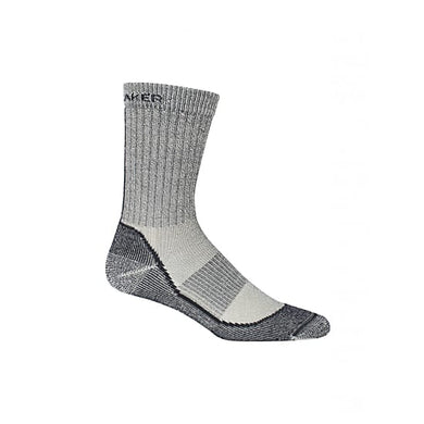 Icebreaker Merino Women Hike Basic + Light Crew Trekking Socks Camping Outdoor silver horizon oil