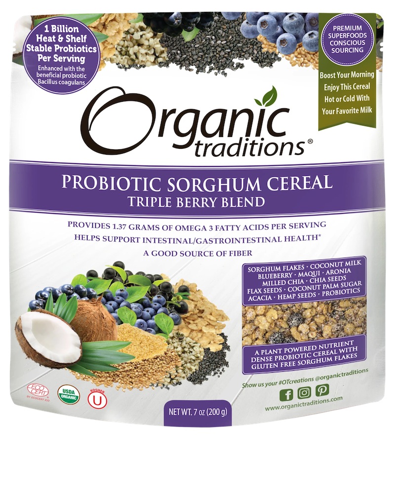 Organic Probiotic Sorghum Cereal - Triple Berry Blend