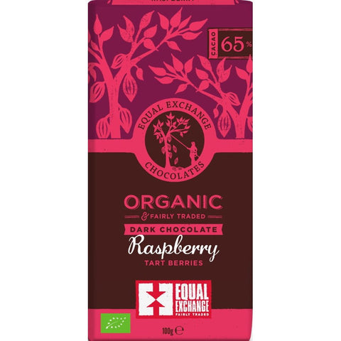 Equal Exchange Dark Chocolate With Raspberries 100g