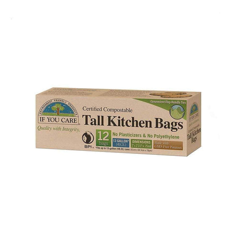 Recycled Tall Kitchen Bags 49L - If You Care