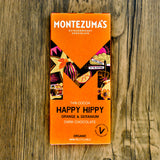 Montezuma's Happy Hippy Orange & Geranium Dark Chocolate 90g