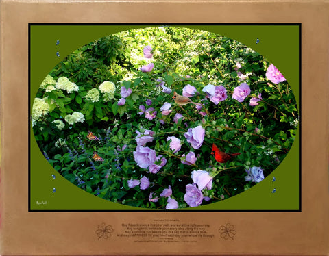 Rose of Sharon and Limelight Hydrangea Accord I by Bigan Fanli