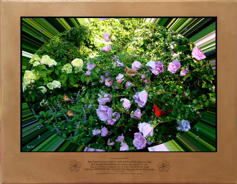 Rose of Sharon and Limelight Hydrangea Accord II by Bigan Fanli
