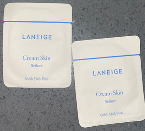 Laneige Cream Skin Refiner Quick Mask Pack x 2
