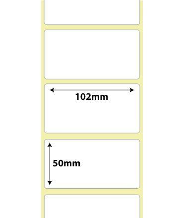 102mm x 50mm Direct Thermal Roll Labels | 76mm Core 18,000 Labels
