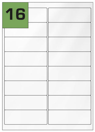 Gloss Laser Labels 99.1mm x 33.9mm