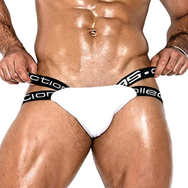 Jockstrapstore BS3501-White / M / 1pc Thongs G String