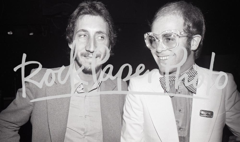 Pete Townshend and Elton John by Chuck Pulin