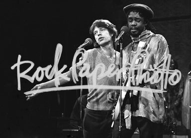 Mick Jagger and Peter Tosh by Lisa Tanner