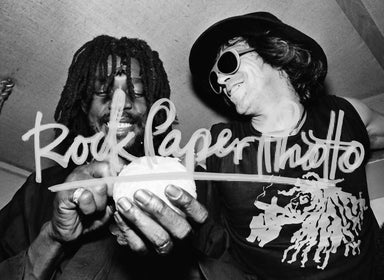 Peter Tosh and Keith Richards by Lisa Tanner