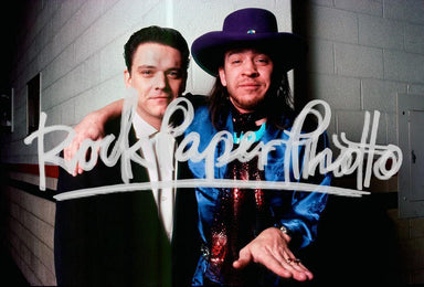 Stevie Ray Vaughan and Jimmie Vaughan by Chester S