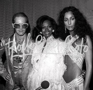 Elton John, Diana Ross, and Cher by James Fortune