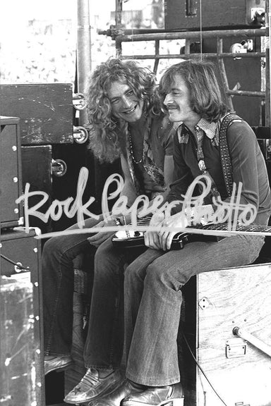 Robert Plant & John Paul Jones by James Fortune
