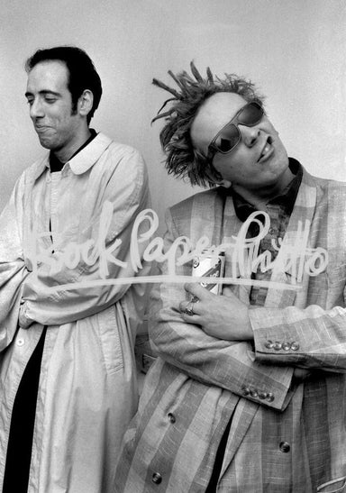 Mick Jones & John Lydon by Adrian Boot