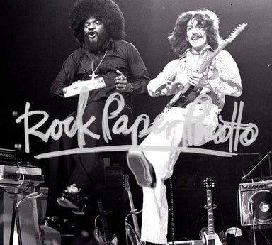 Billy Preston and George Harrison by Chuck Pulin