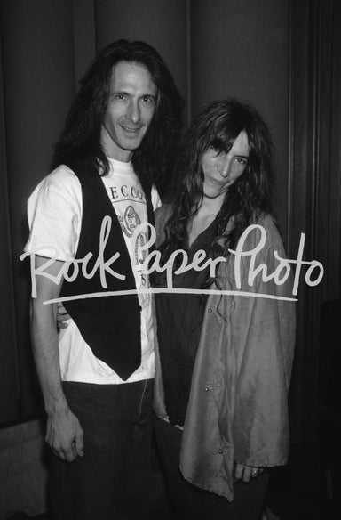 Lenny Kaye and Patti Smith by Gene Shaw