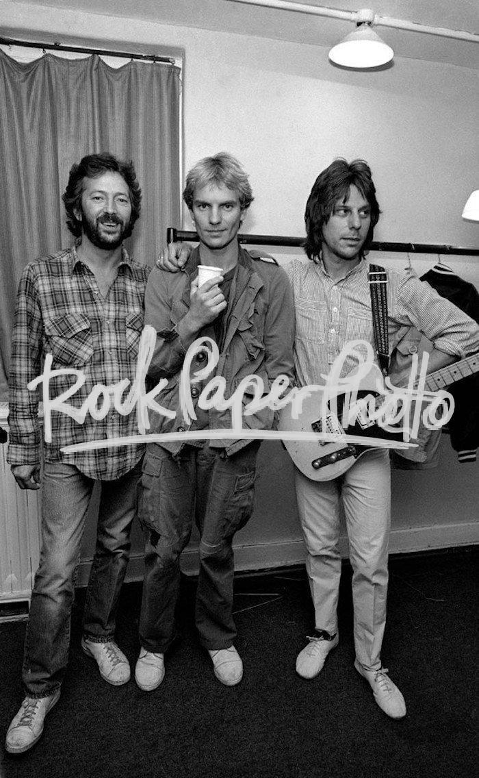 Eric Clapton with Sting and Jeff Beck, UK 1981