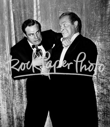 Marlon Brando and Bob Hope by Frank Worth