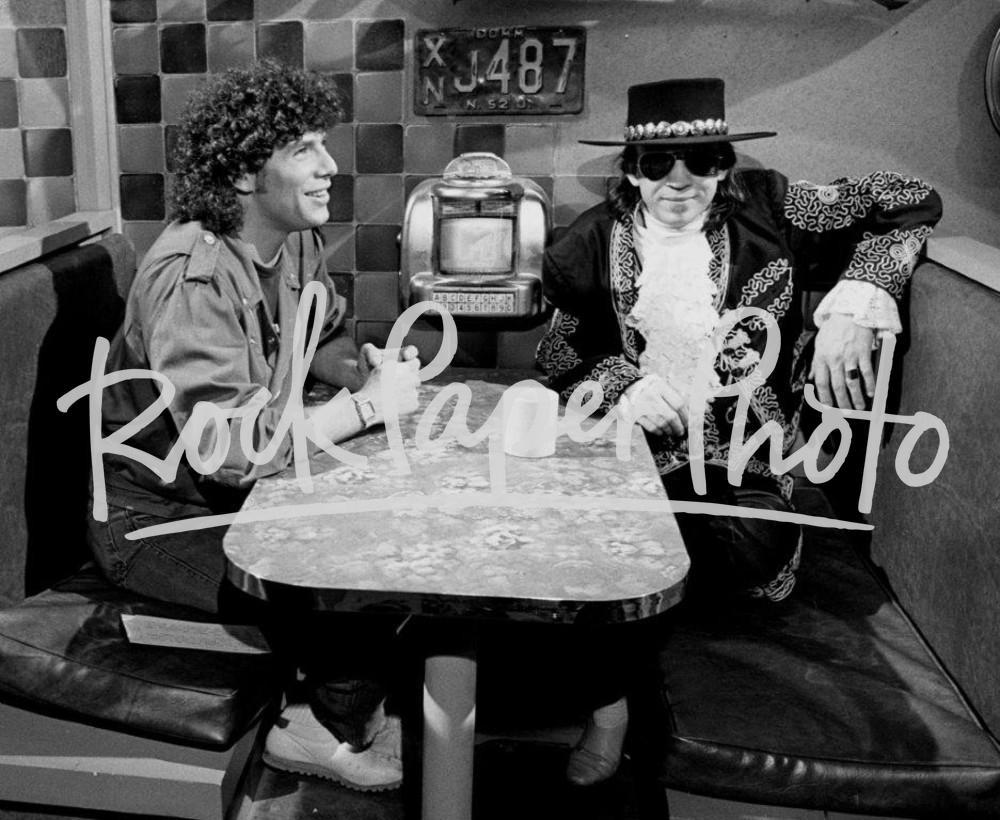 Stevie Ray Vaughan and Mark Goodman by Chuck Pulin