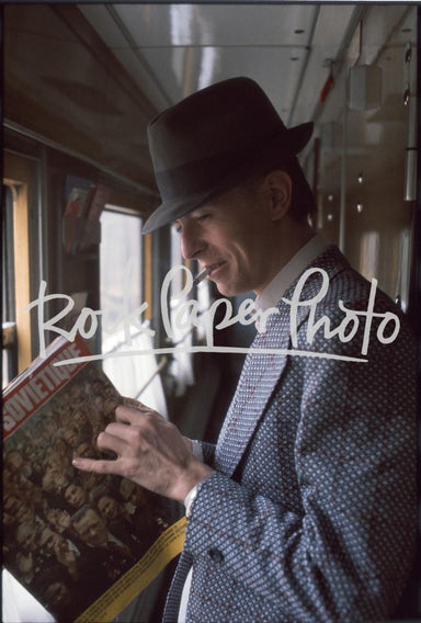 David Bowie, en route from Moscow to Helsinki 1976