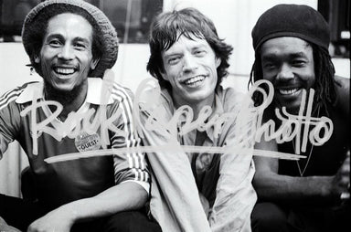 Bob Marley, Mick Jagger & Peter Tosh by Michael Pu