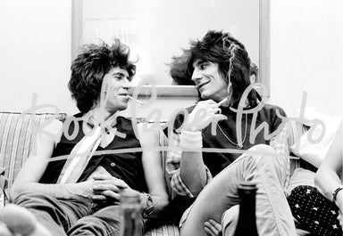 Keith Richards & Ronnie Wood by Michael Putland