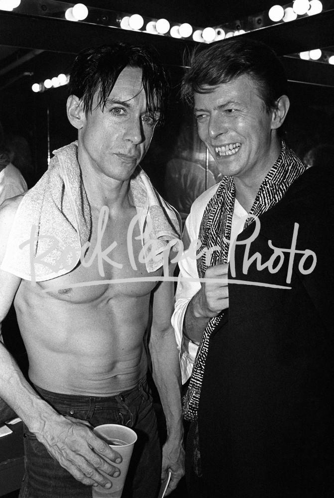 Iggy Pop & David Bowie by Larry Busacca