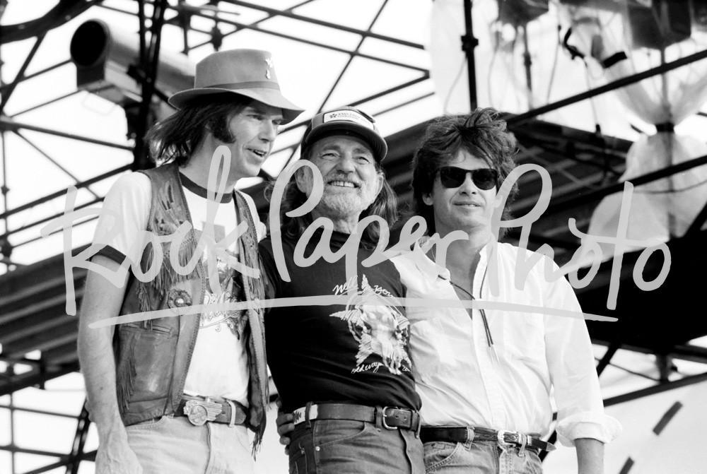 Neil Young, Willie Nelson & John Mellencamp by Dav