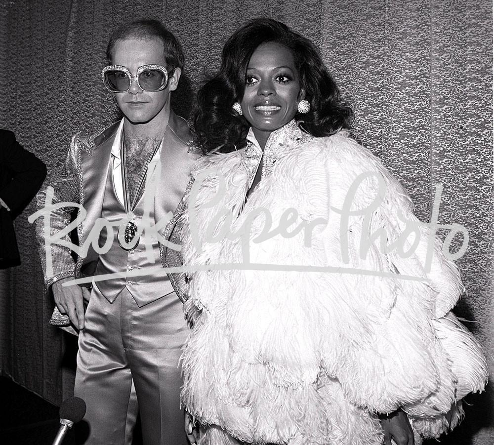Elton John & Diana Ross by James Fortune