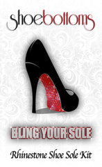 Our packaging for the rhinestone shoe sole kit