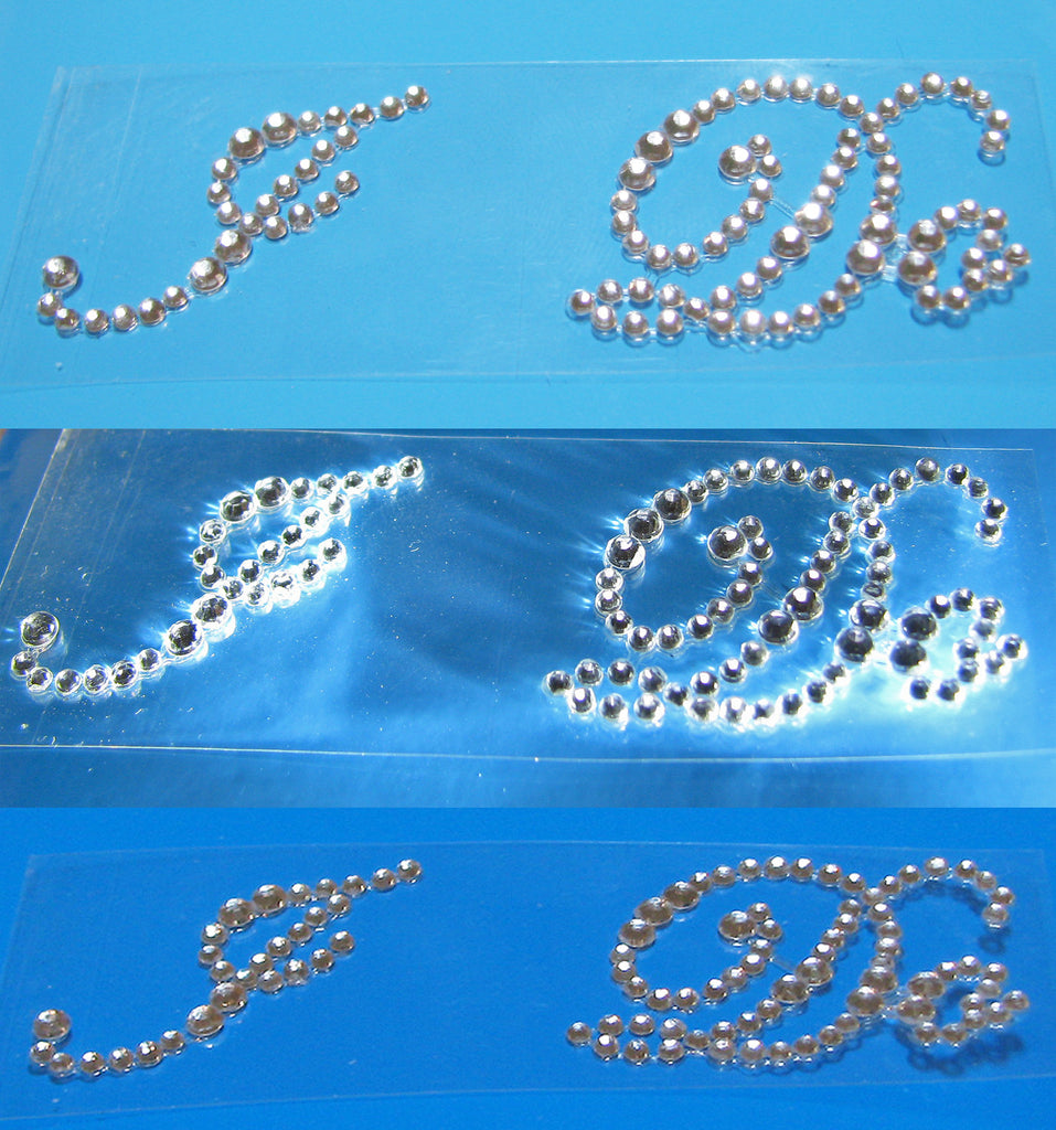 "Different shades of blue for ""I Do"" rhinestone sole sticker"