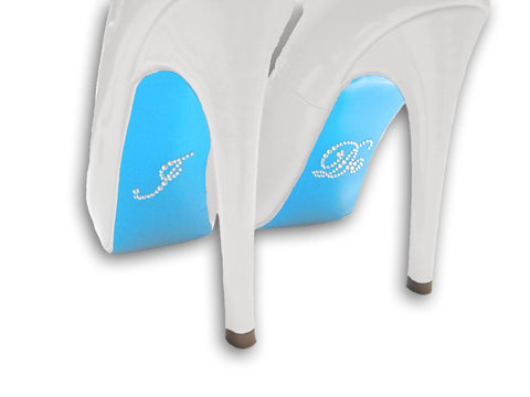 """I Do"" Rhinestone Sticker with Blue Colored Shoe Sole Kit"