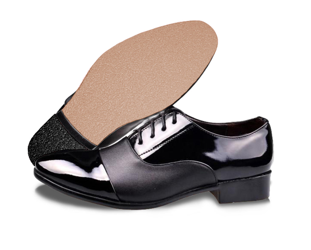 Mens dress shoe with clear protector