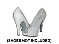 Silver Shoe Sole kit on silver heels